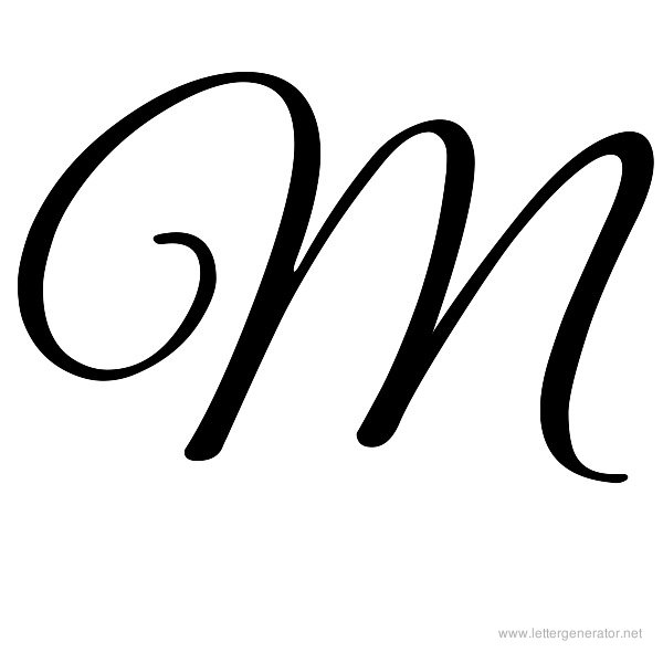 7 best images of printable fancy letter m cursive letter for Fancy alphabet letter templates