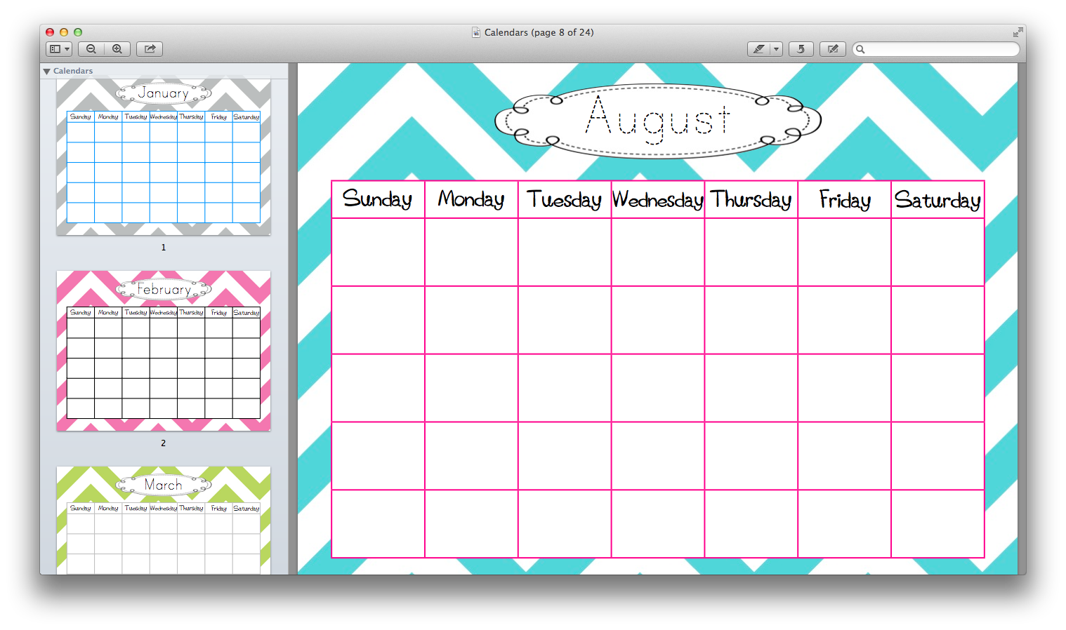 Cute Blank Monthly Calendar : Best images of cute free printable calendar templates