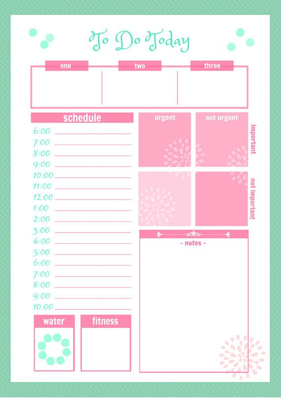 Cute Daily Planner Printable