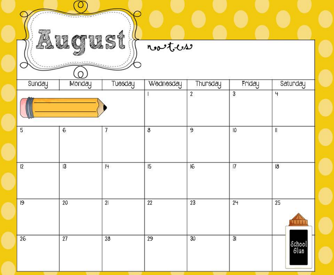 Calendar Templates Cute : Best images of cute free printable calendar templates