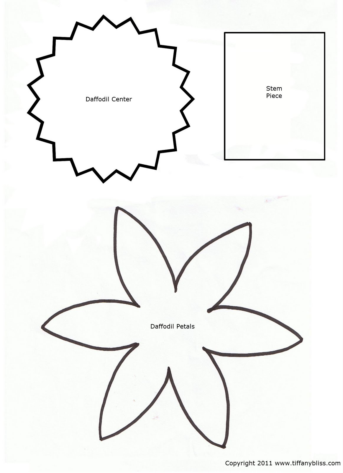 7 best images of printable cut out flower patterns for Paper cut out templates flowers