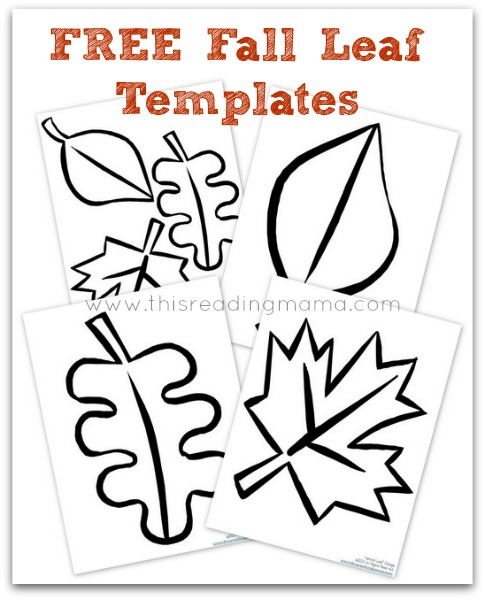 5 Images of Free Fall Printable Craft Templates