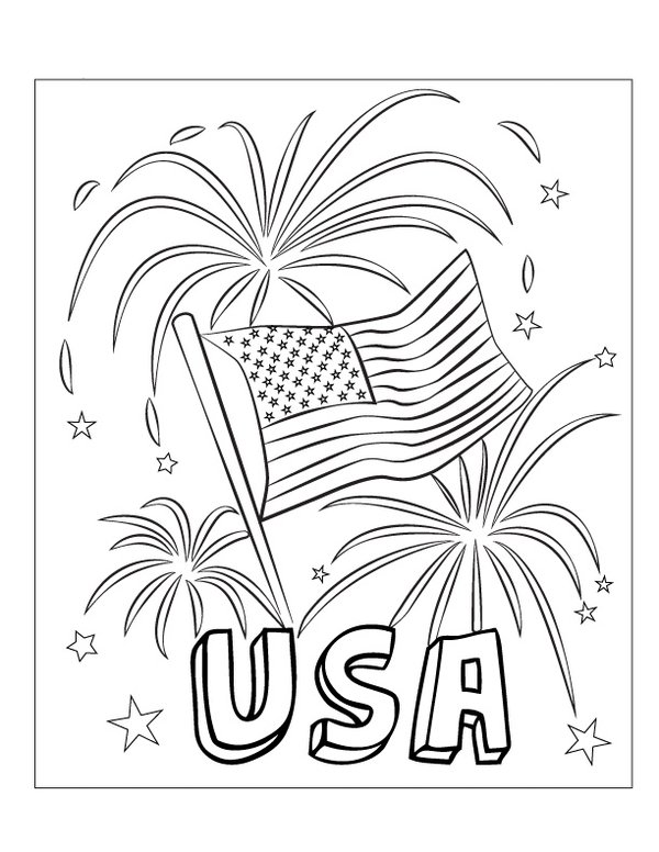 4 Images of Printable Patriotic Coloring Pages