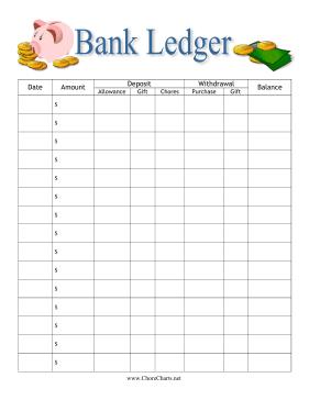 budget ledger printable