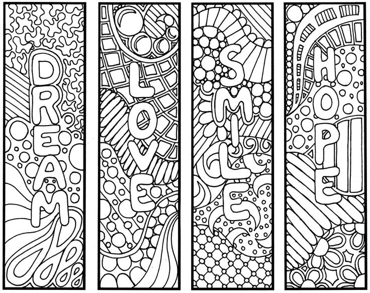 Gallery For gt Bookmark Coloring Pages Printable