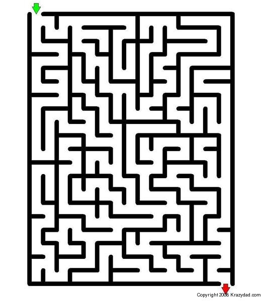 5 Images of Easy Printable Maze Puzzles