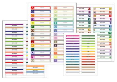 Free File Folder Labels Templates
