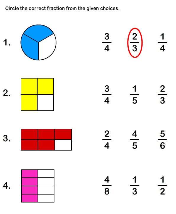 math worksheet : 5 best images of fraction test printable with answer  printable  : Free Fraction Worksheets For 3rd Grade