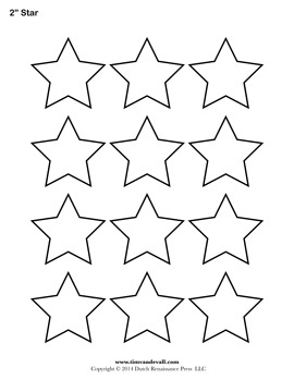 Free Printable 2 Inch Star Template