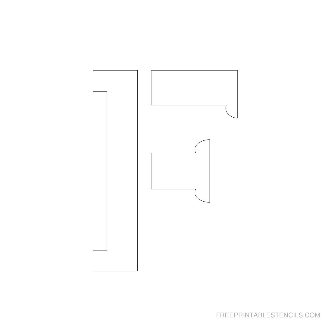 Free Printable 3 Inch Letter Stencils
