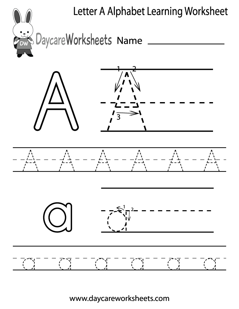 Letter A Worksheets For Preschoolers - Gamersn