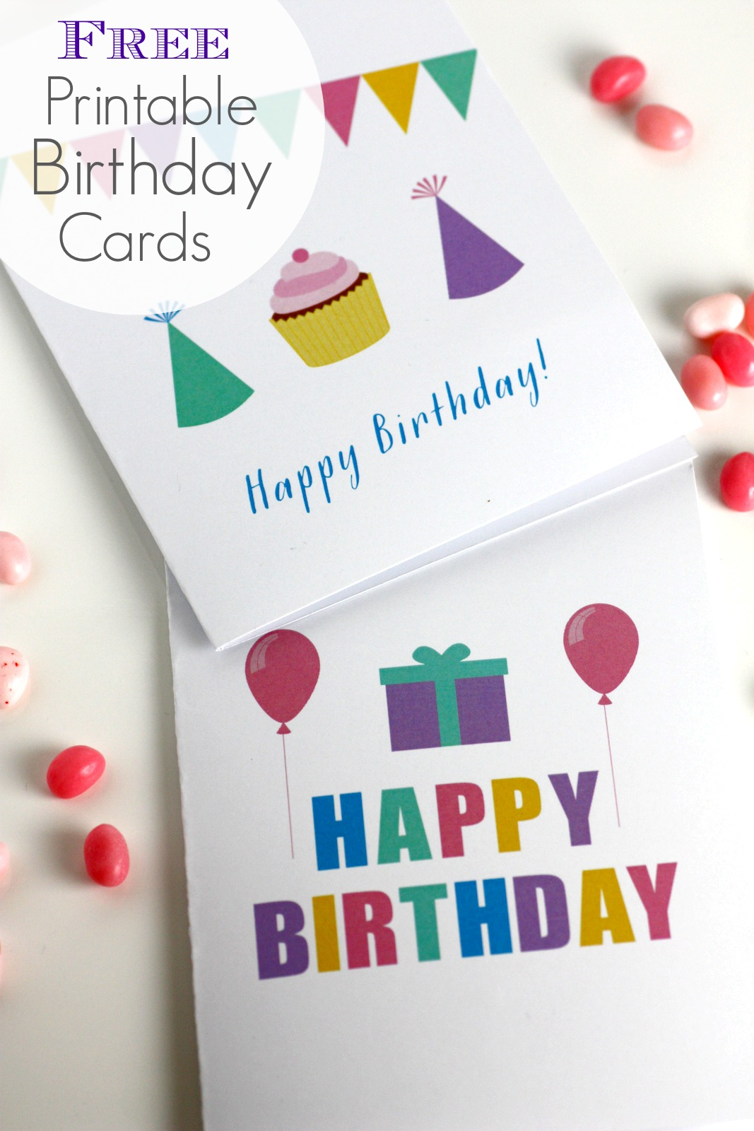 5 Images of Free Blank Printable Birthday Cards