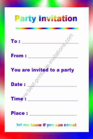 8 Images of Printable Fill In Invitations