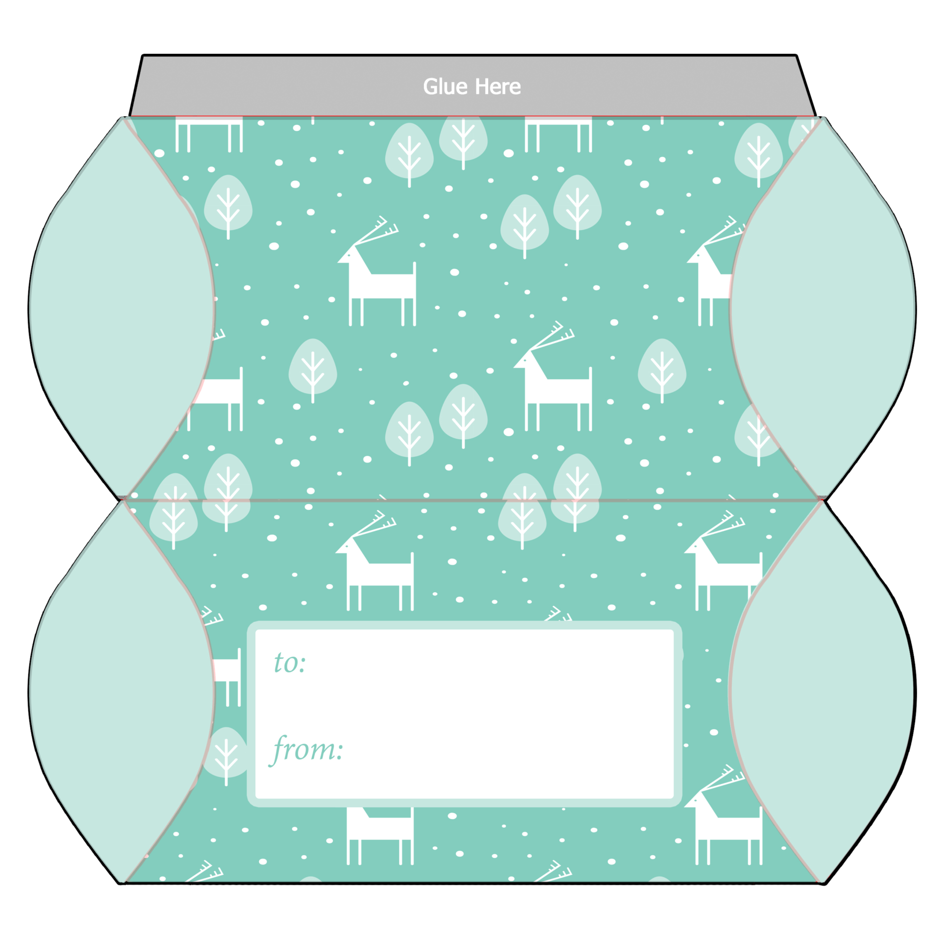 6 best images of christmas printables box template free printable christmas box christmas box. Black Bedroom Furniture Sets. Home Design Ideas