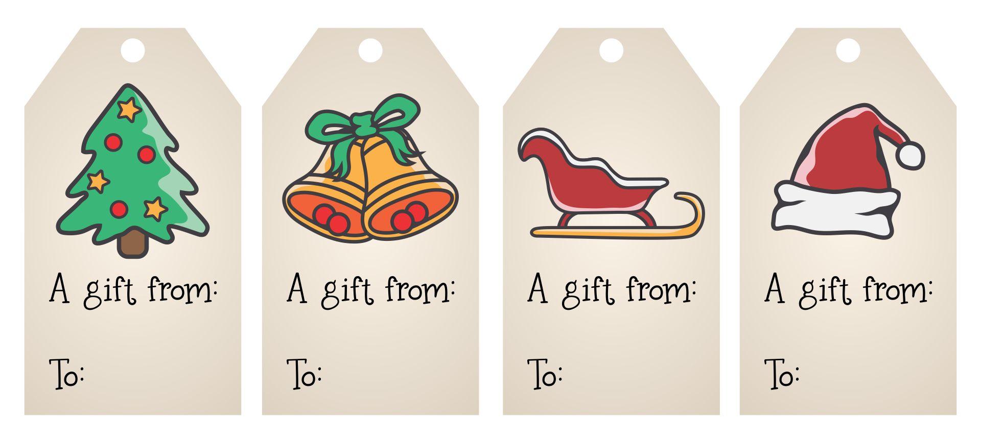 Printable Christmas Gift Tags Personalized