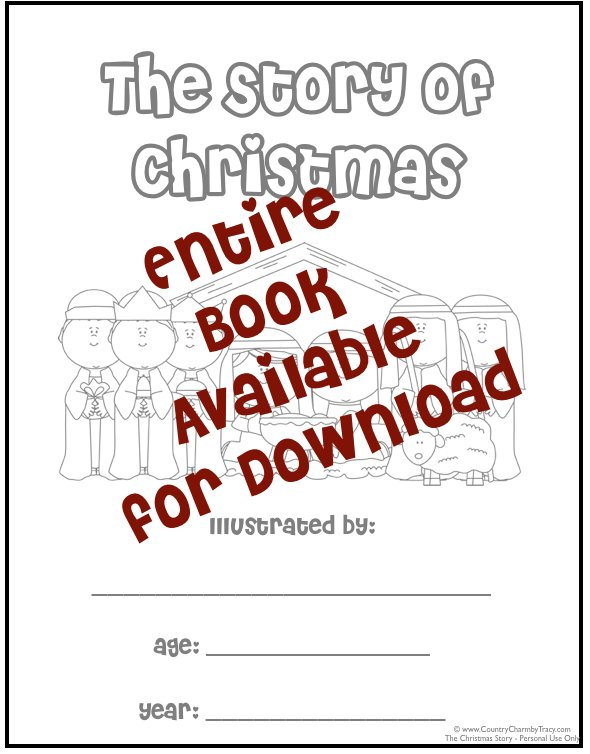 6 Images of Printable Christmas Story Book