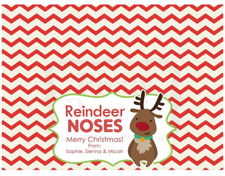 4 Images of Reindeer Treat Bag Printable