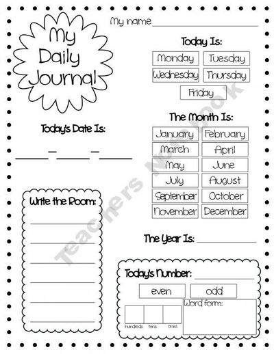 Free Printable Daily Journal Pages