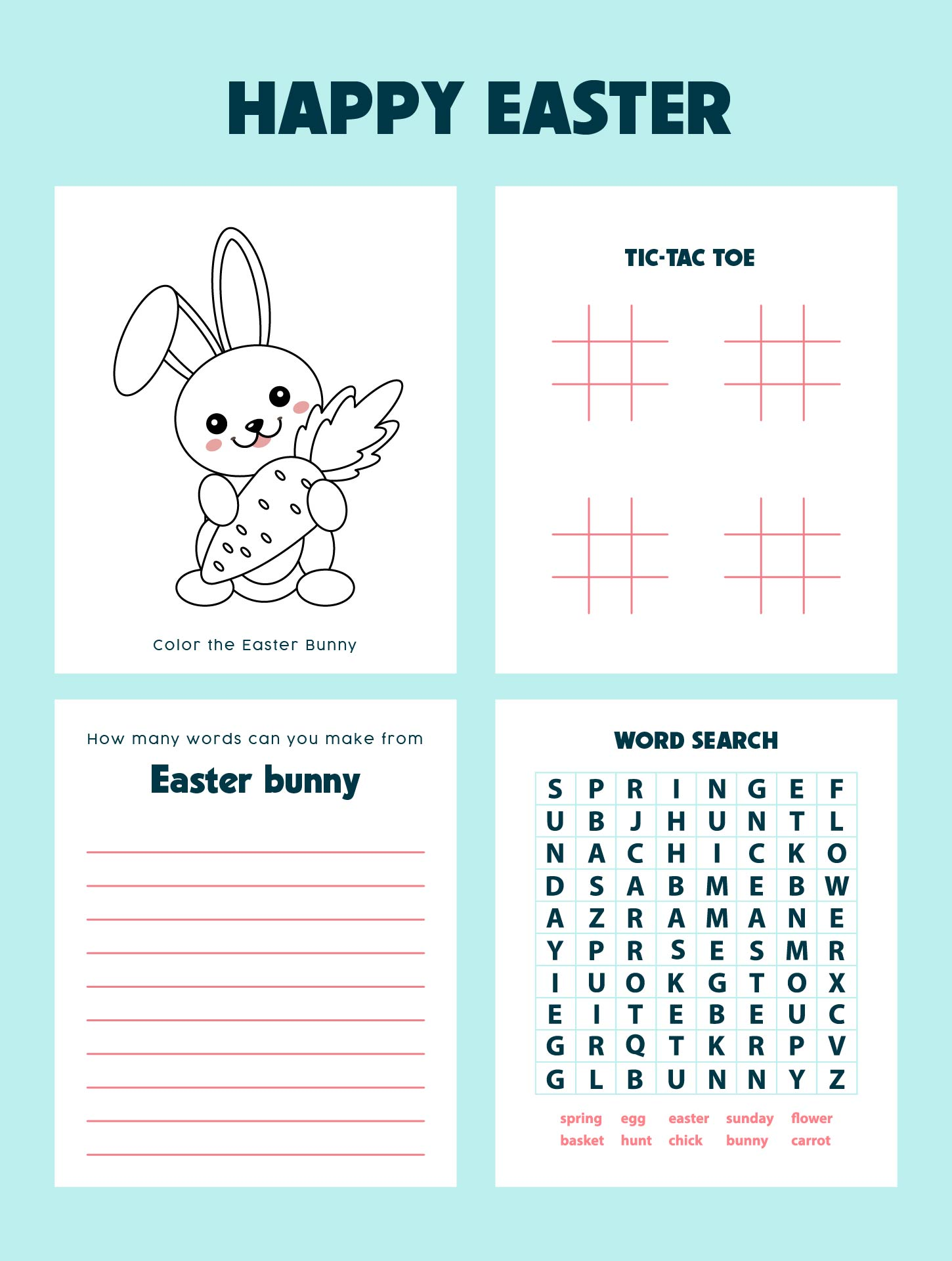 4 Images of Free Easter Printable Word Games