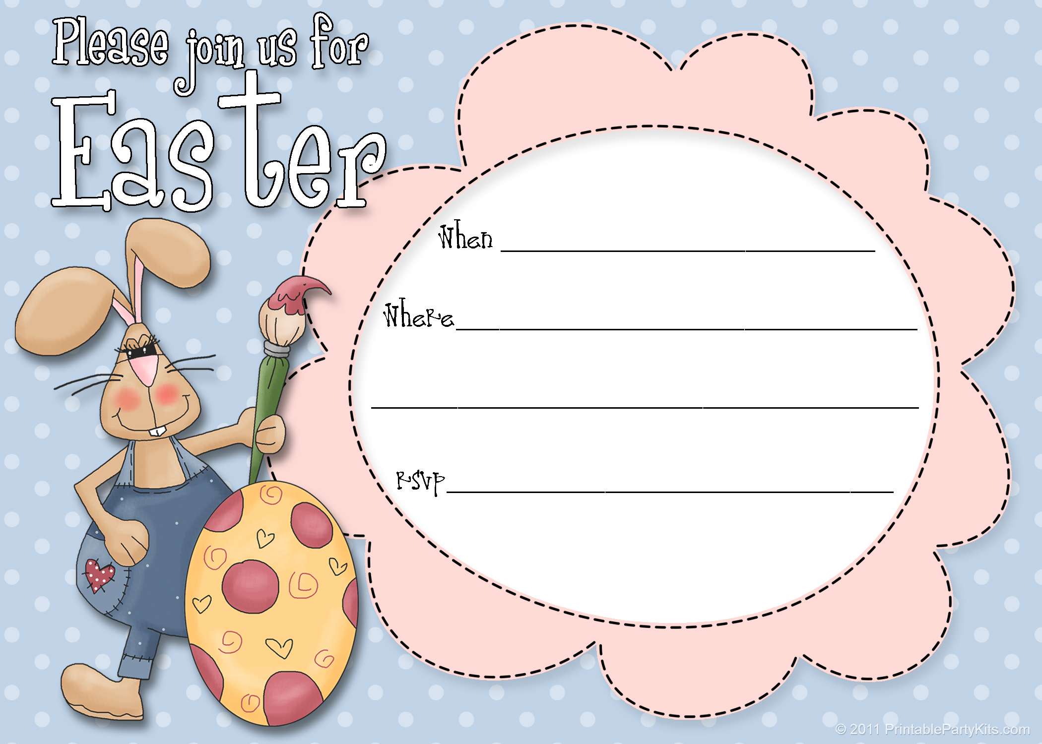 6 Images of Free Printable Easter Templates