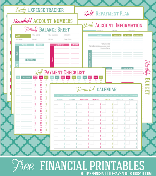 8 Images of Free Financial Printable Planner