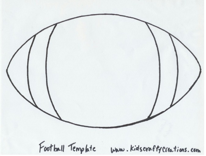 5 Images of Football Template Printable