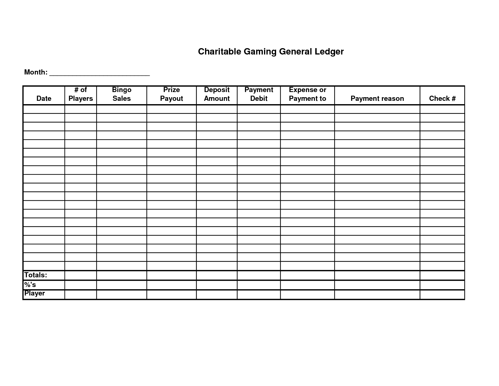 Free General Ledger Template Free Accounting Templates in Excel – Payment Ledger Template