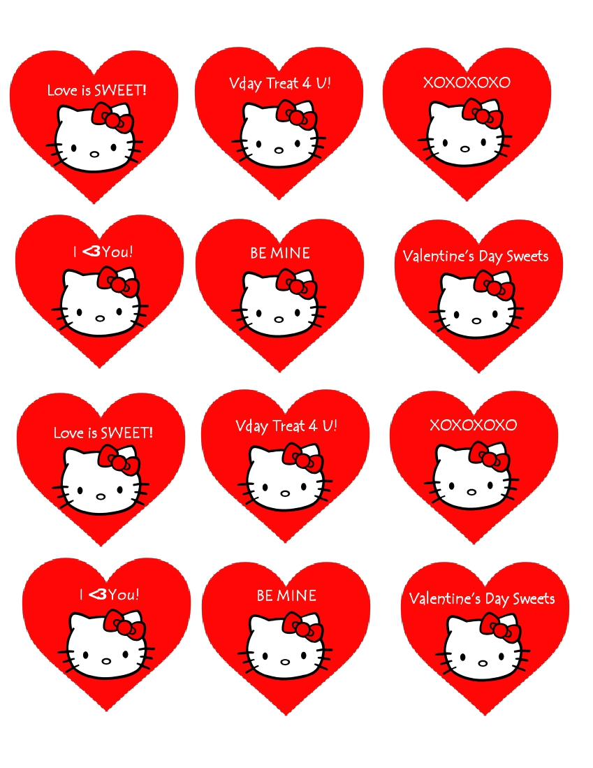 5 best images of hello kitty printable cupcake toppers for Hello kitty cupcake topper template