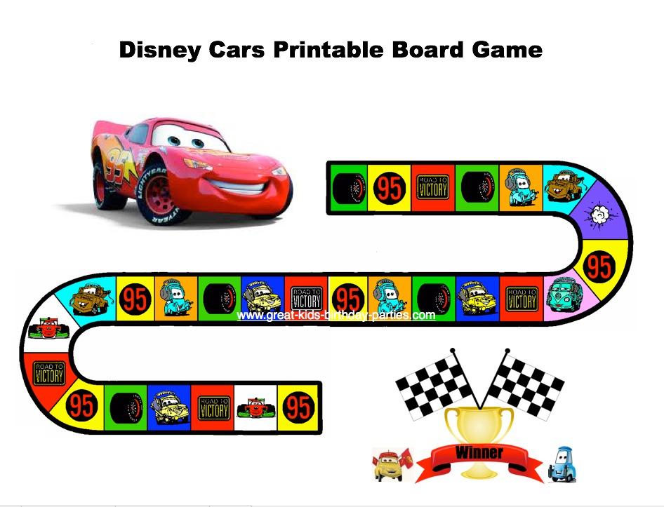 Printable Kids Car Game