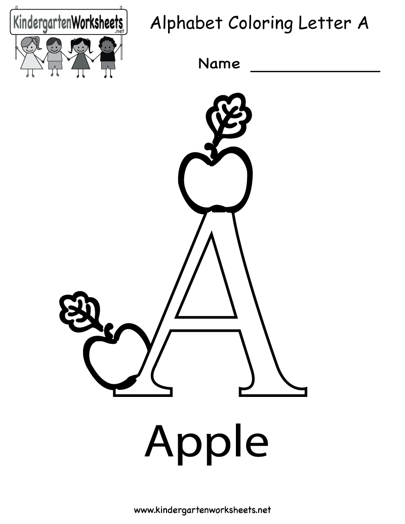 math worksheet : letter a worksheets free printable  sheets : Letter Worksheet For Kindergarten