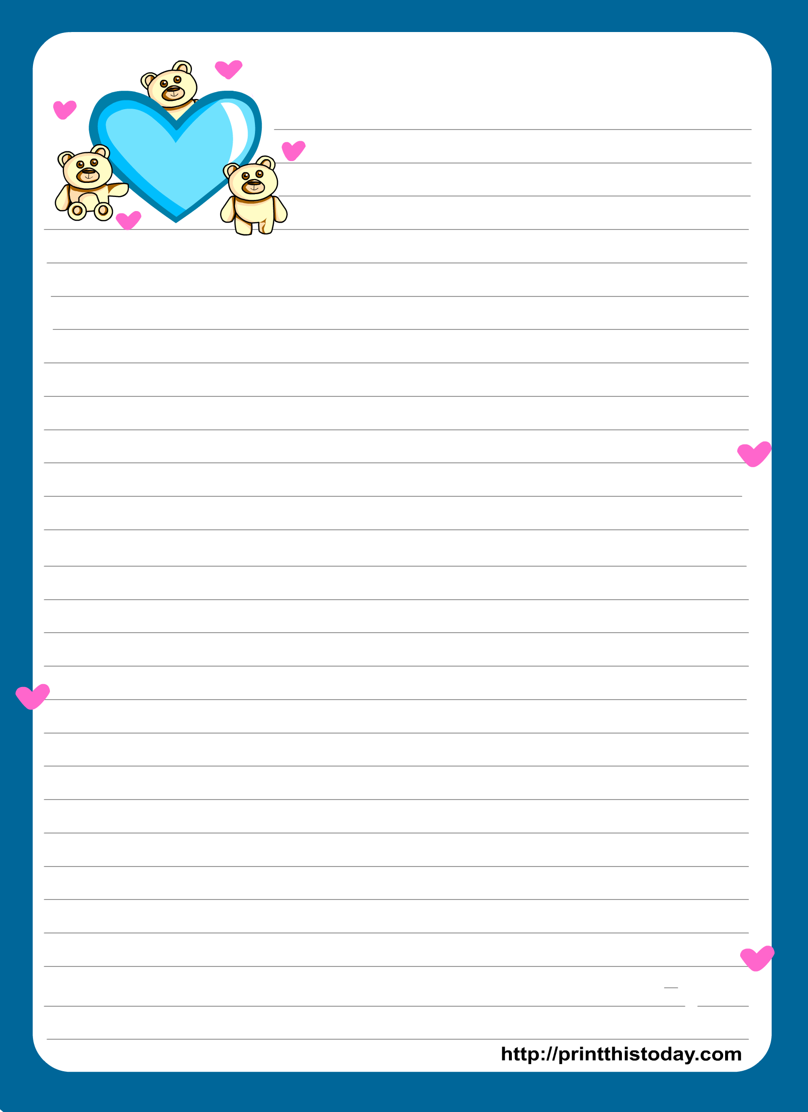 Free Printable Love Stationery Paper