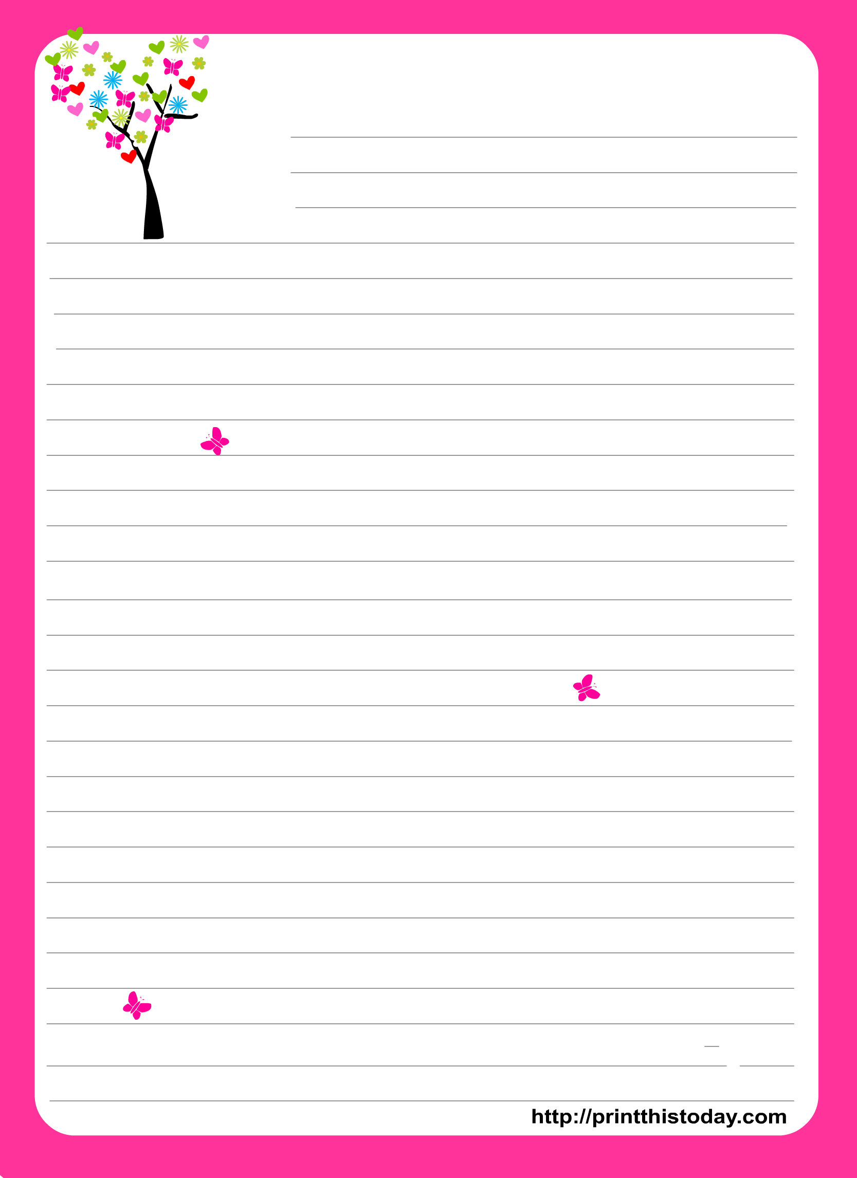 Free Printable Love Stationery