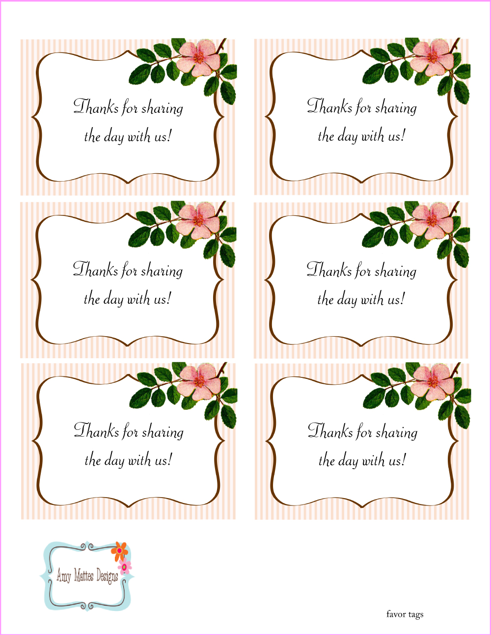 Free Printable Mother's Day Tags
