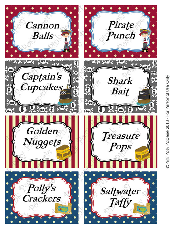 6 Best Images of Free Printable Pirate Labels