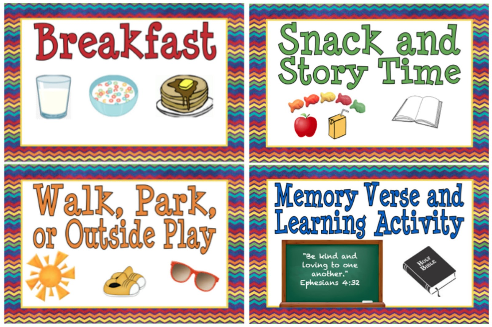 4 Images of Free Printable Preschool Daily Schedule