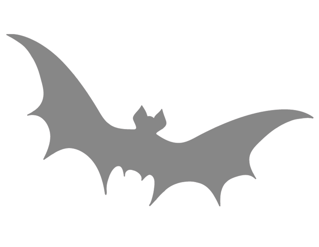 5 Images of Large Bat Stencils Printable