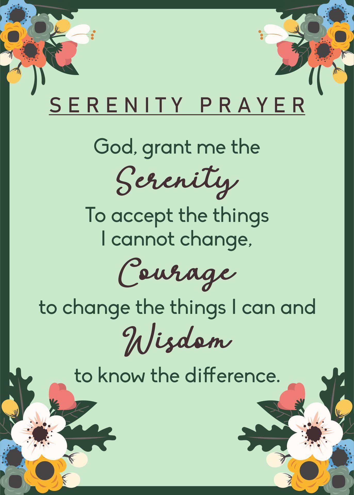 Printable Serenity Prayer