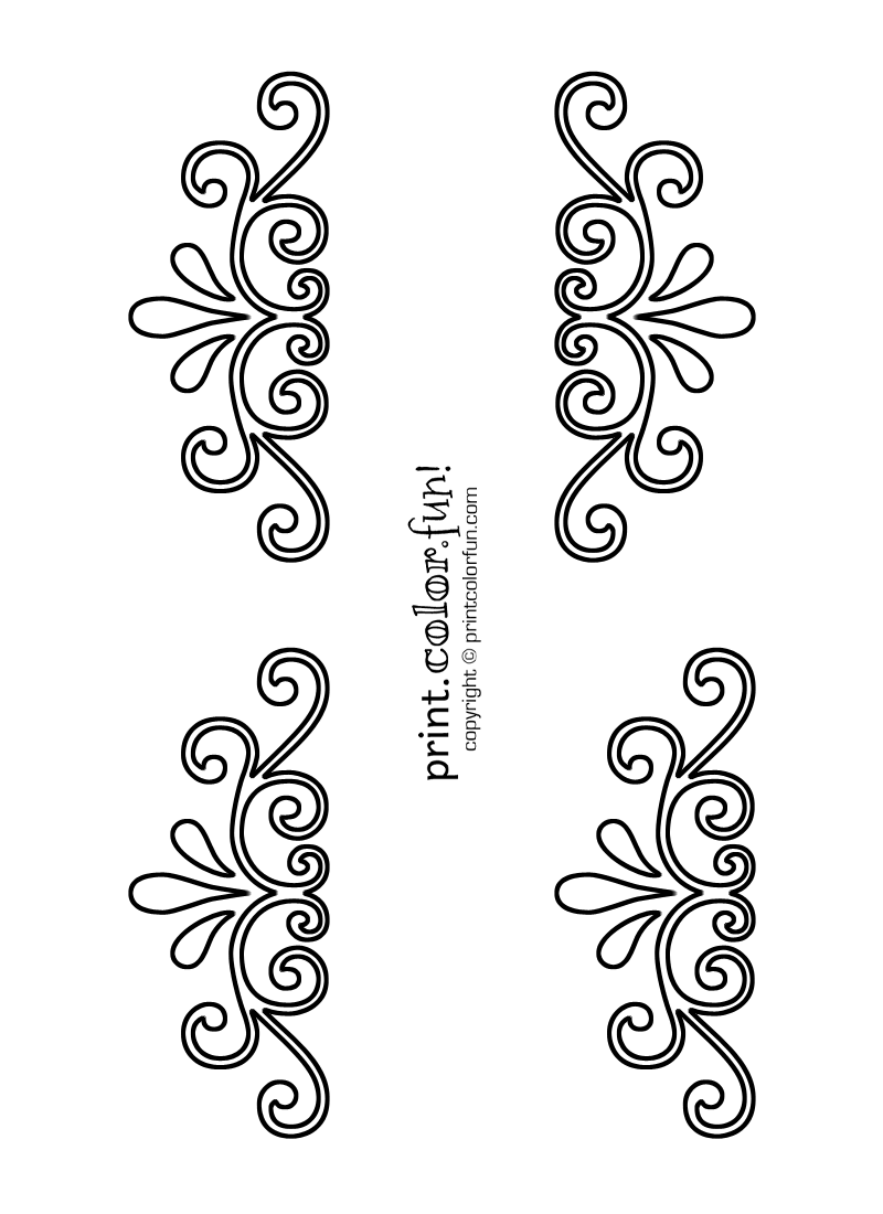 5 Images of Printable Stencils Designs Swirls