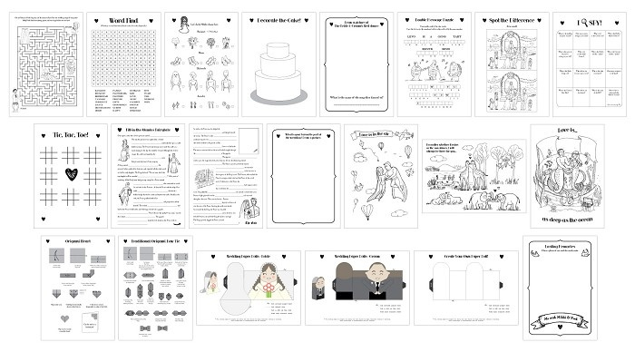 free printable wedding activity book - Printable Books For Kids