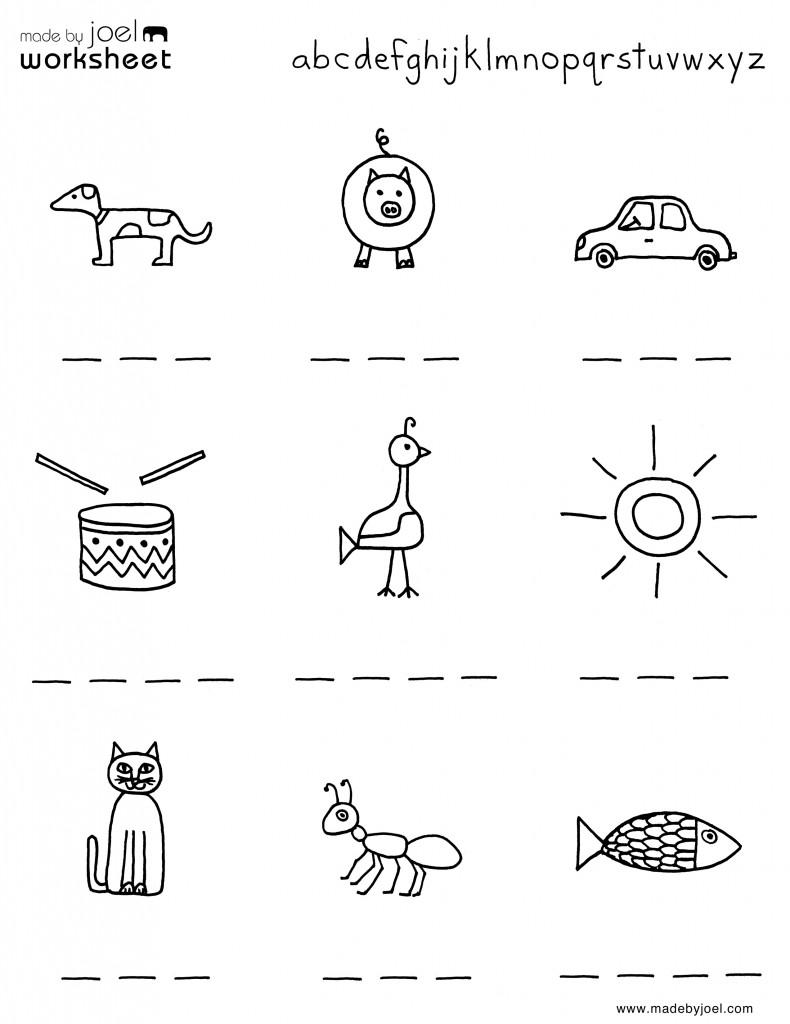 free kindergarten homework sheets – Kindergarten Homework Worksheets