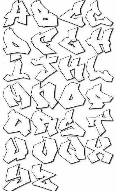 7 Images of Graffiti Alphabet Printables