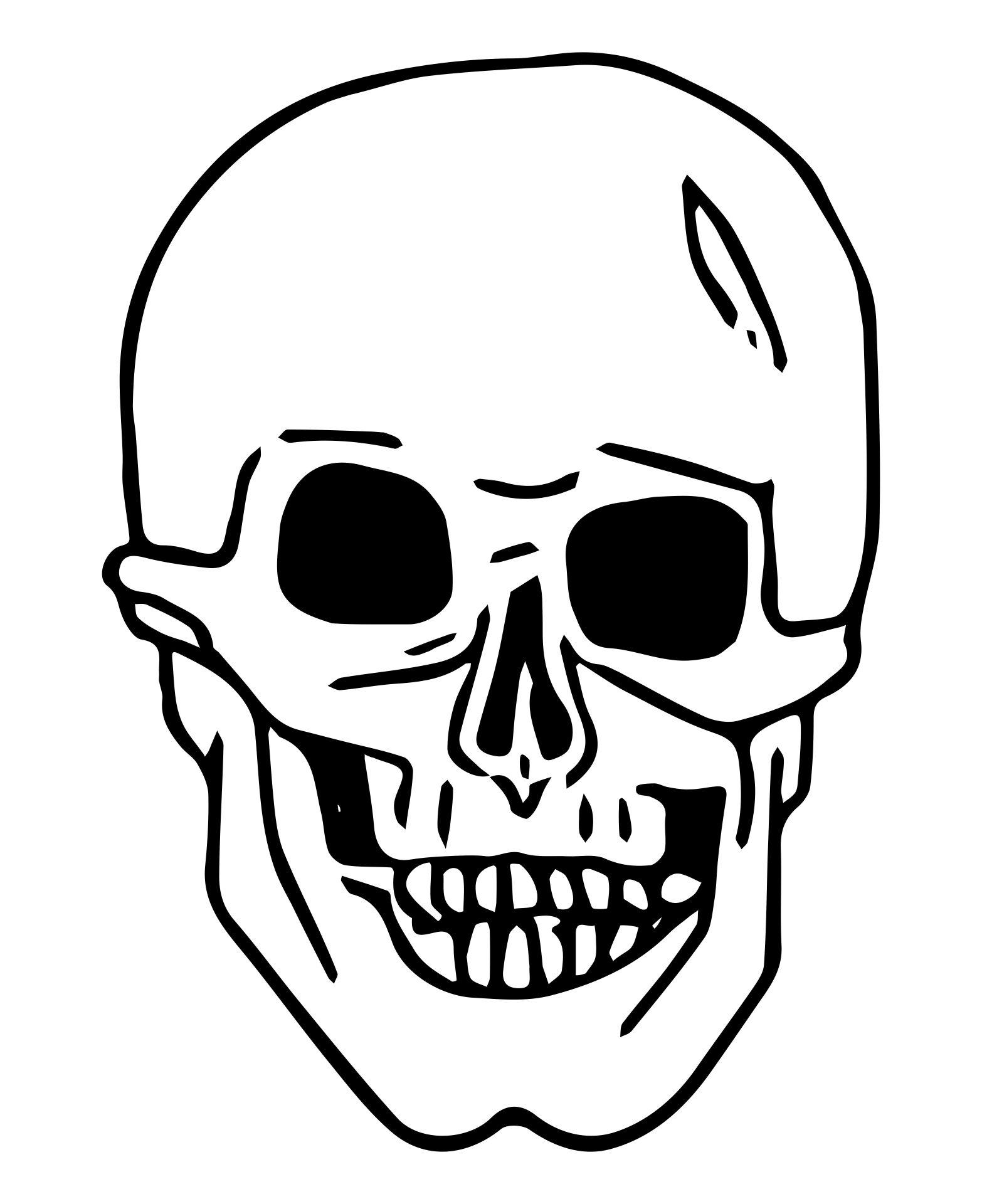 Graffiti Stencil Skull Print