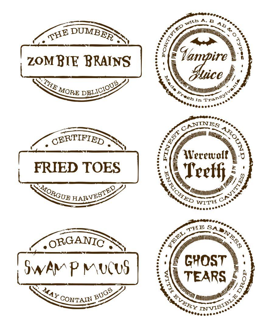 Halloween Food Label Printables