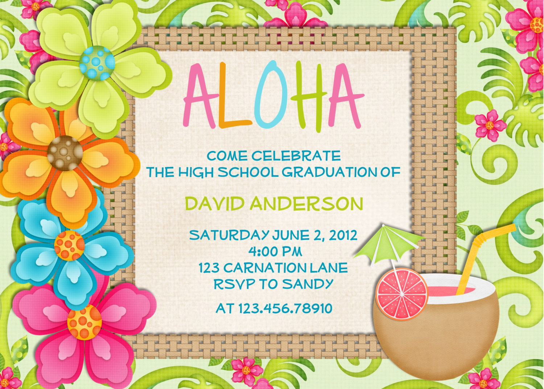 Luau Birthday Party Invitation Wording theodore roosevelt party – Hawaiian Party Invitation Wording