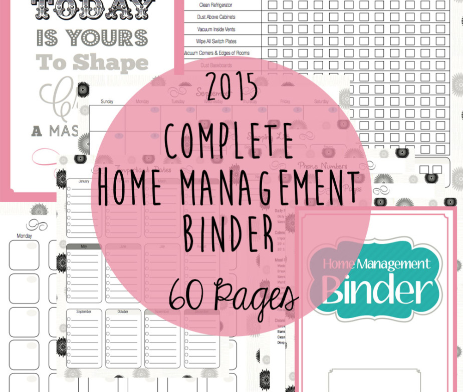 9 Images of Black And White Home Management Printables