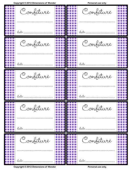 9 Images of Free Printable Jelly Jar Labels