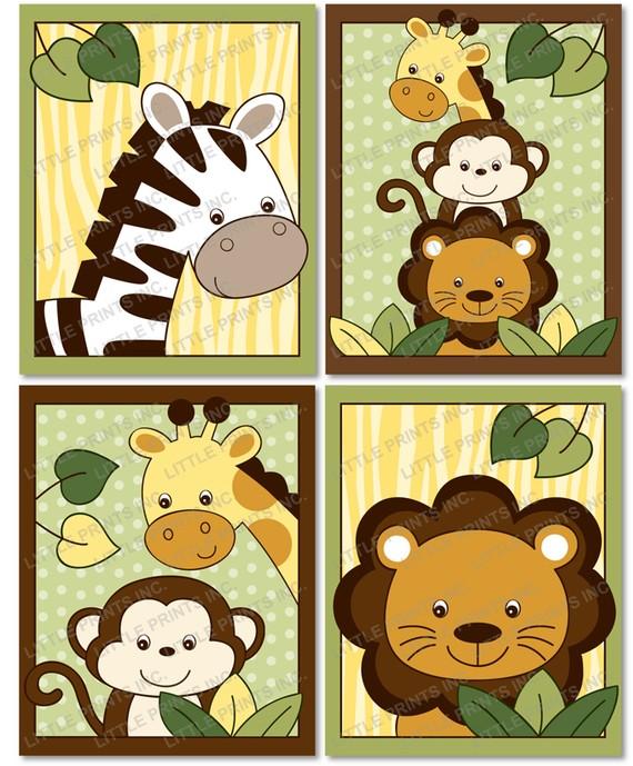 6 Images of Free Printable Animal Nursery Wall Art
