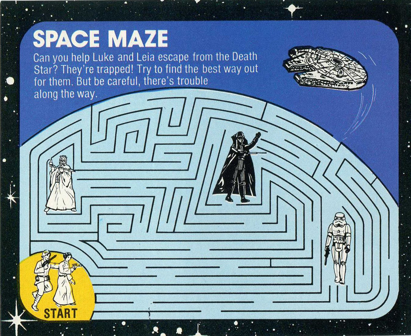 6 Best Images Of Star Wars Mazes Printable
