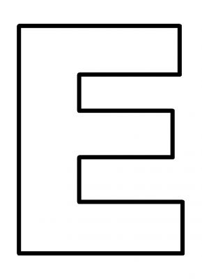 6 best images of large printable letter e letter e for Letter e coloring page