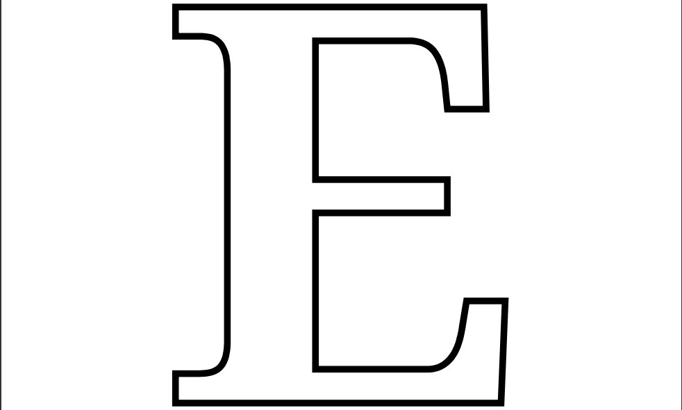6 Images of Large Printable Letter E